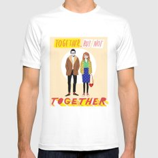 Together but not together MEDIUM Mens Fitted Tee White