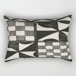 Tapa | Barkcloth | Pacifica | Pasifica | Abstract Patterns | Pacific Islands | Tribal | Ethnic | Rectangular Pillow