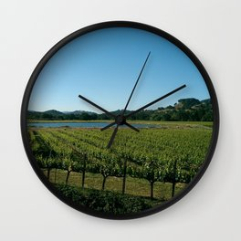 Wine Country Wall Clock