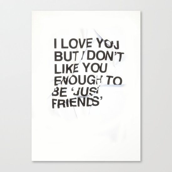 Just Friends Canvas Print