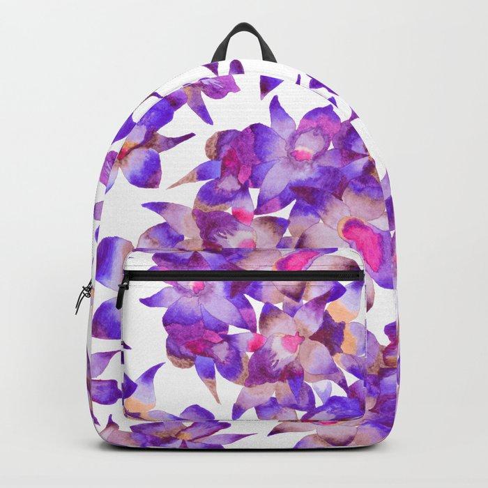 Vintage Floral Violet Backpack