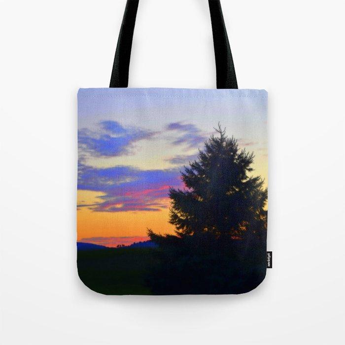 West Brome Sunset Landscape Tote Bag