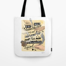 We Hold These Truths (yellow) Tote Bag