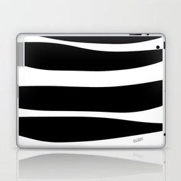 Irregular Stripes Black White Waves Art Design Laptop & iPad Skin