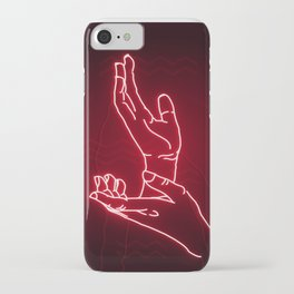 Red Neon Meanwhile iPhone Case