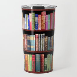 Book Lovers Gifts, Antique bookshelf Travel Mug