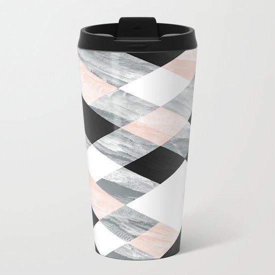 Pastel Scheme Geometry Metal Travel Mug