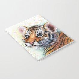 Tiger Cub Watercolor Cute Baby Animals Notebook