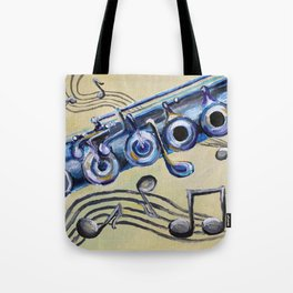 Flute Blues Tote Bag