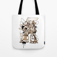 gundam Tote Bags featuring Gundam Style by RiskeOne opc
