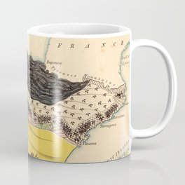 Vintage Illustrative Map of Spain (1869) Coffee Mug