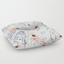 Pretty Succulents by Nature Magick Floor Pillow