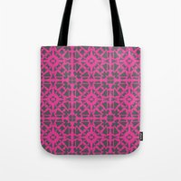 gray pattern Tote Bags featuring Magenta Gray pattern by xiari