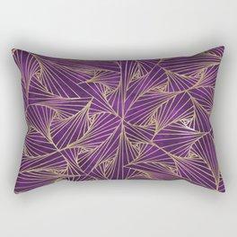 Tangles Violet and Gold Rectangular Pillow