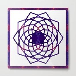 Passionate Purple Prayers Abstract Chakra Art  Metal Print