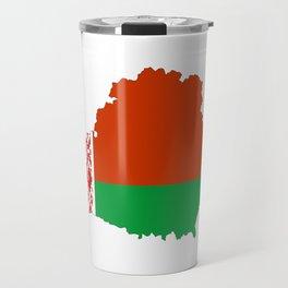 Belarus flag map Travel Mug