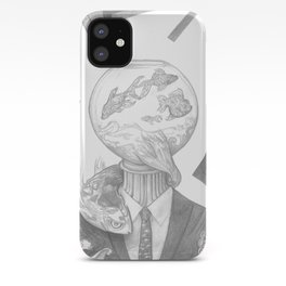 The Fish Bowl Man iPhone Case