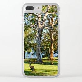 Mob of Eastern Grey Kangaroos Clear iPhone Case
