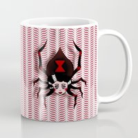 black widow Mugs featuring Widow by willjames