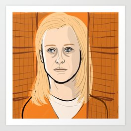 Taylor Schilling of Orange Is New Black Art Print