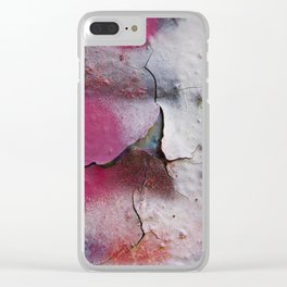 Pink Rumble Clear iPhone Case