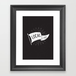 Localist Framed Art Print