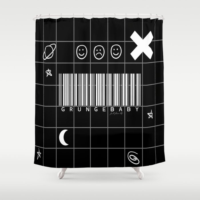 Grunge Baby Shower Curtain by lfcproductions | Society6