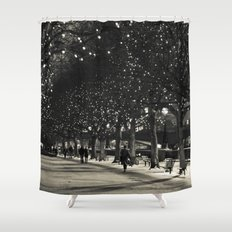 Night and lights Shower Curtain