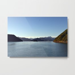Hills on the sea Metal Print