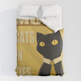 Cats in Ties - PSA Duvet Cover