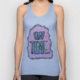 """On Time"" by RenPenCreations Unisex Tank Top"