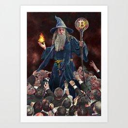 institutional FOMO for magic internet money Art Print