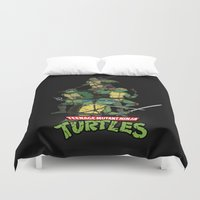 tmnt Duvet Covers featuring TMNT by Neal Julian