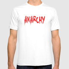 ANARCHY MEDIUM White Mens Fitted Tee