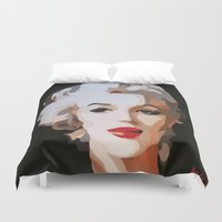 monroe Duvet Covers featuring Monroe by The Art Of Gem Starr