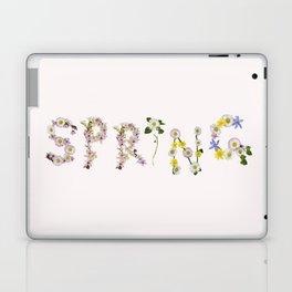 SPRING - Flower Typography Laptop & iPad Skin