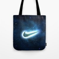 nike Tote Bags featuring nike-galaxy by Max Jones