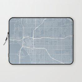 Tulsa Map, USA - Red Laptop Sleeve