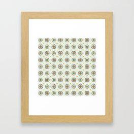 Cheery Modern Moorish Tiles in Minty Moroccan Green Framed Art Print