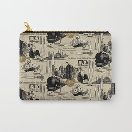 Murder on the Orient Express (Agatha Christie) Toile de Jouy Carry-All Pouch