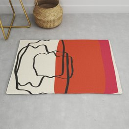 Sunset River Abstract Rug