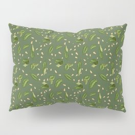 Leaves and seeds in green colors Pillow Sham