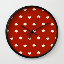Red Spades Wall Clock