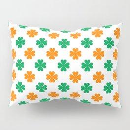 Saint Patrick Irish Flag Clove Seamless Pattern Pillow Sham