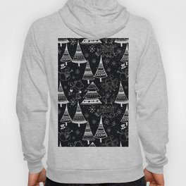 Merry Christmas - Simple X-mas Fun Winter Forest Doodle - Mix & Match with Simplicity of Life Hoody
