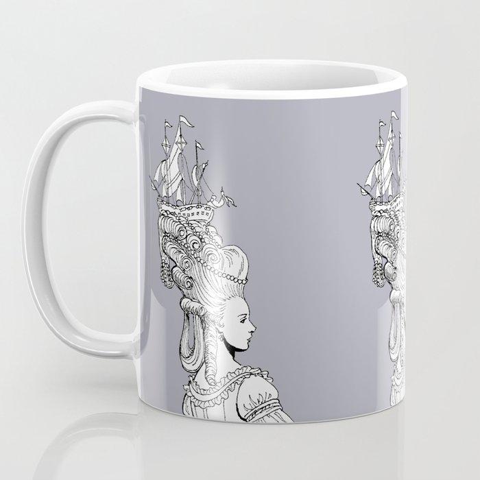 Girl With Ship Coffee Mug