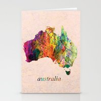 australia Stationery Cards featuring Australia  by mark ashkenazi