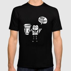 Daily Grind Coffe Shop Black MEDIUM Mens Fitted Tee