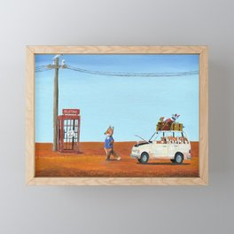 The Out of Service Phone Box Framed Mini Art Print