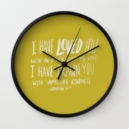Everlasting Love x Mustard Wall Clock